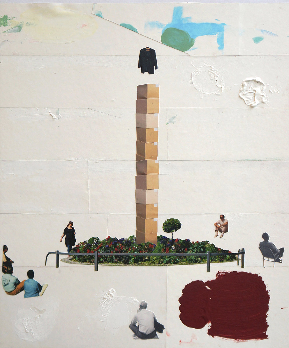 o.T.  Collage, 60cm x 50cm, 2014