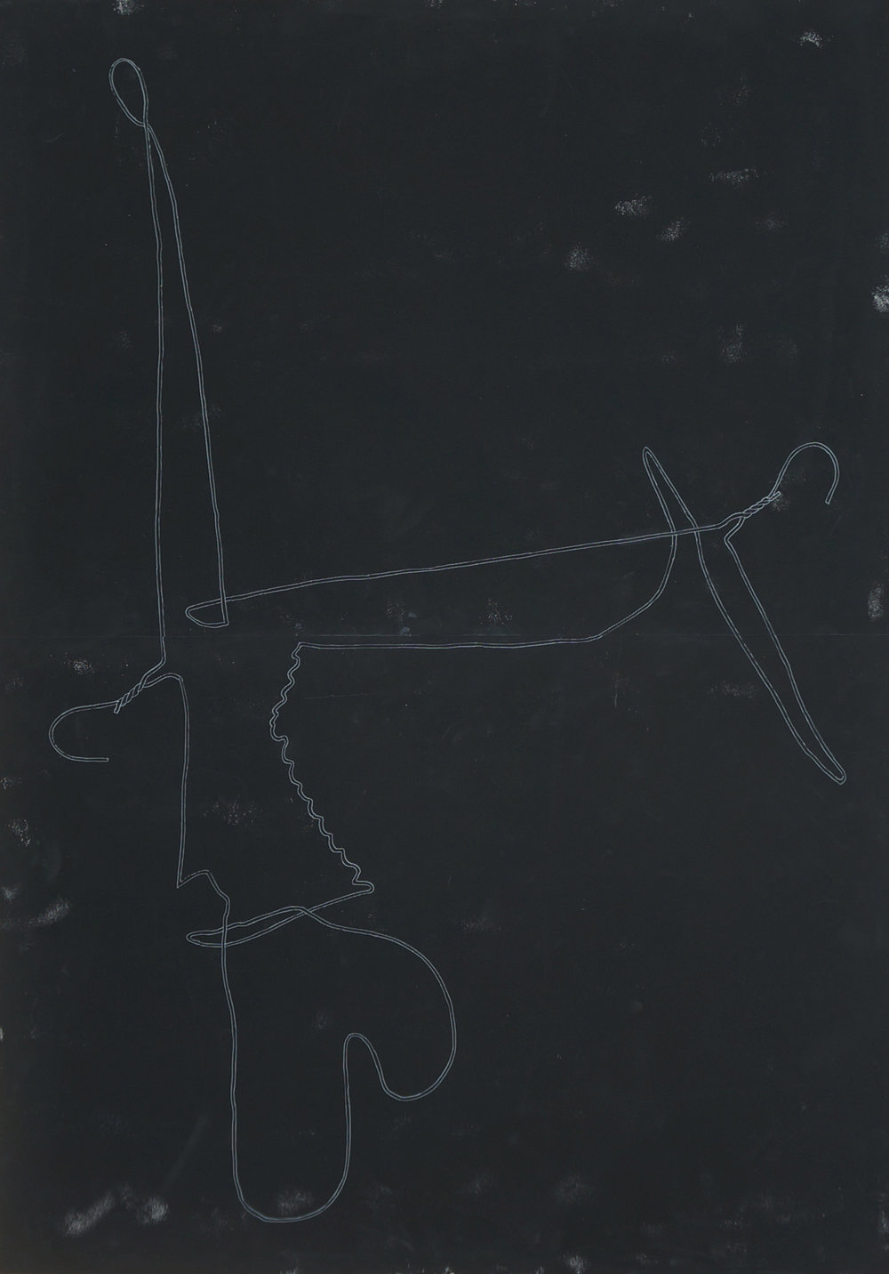 o.T.  Zeichnung, 100cm x 70cm, 2017