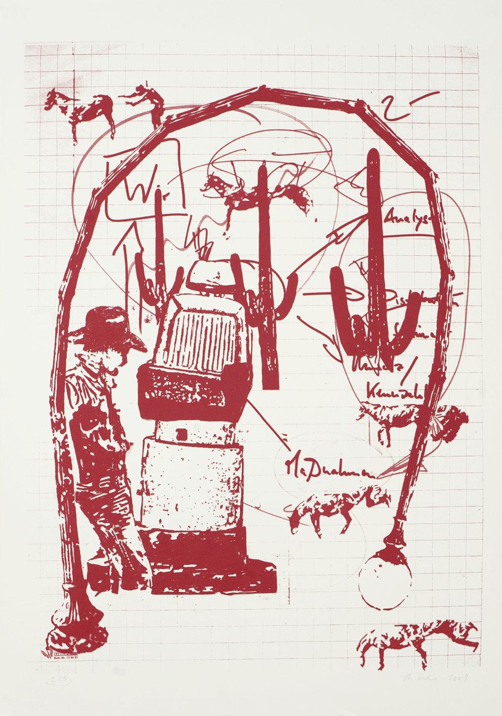 o.T.  Siebdruck, 100cm x 70cm, 2010