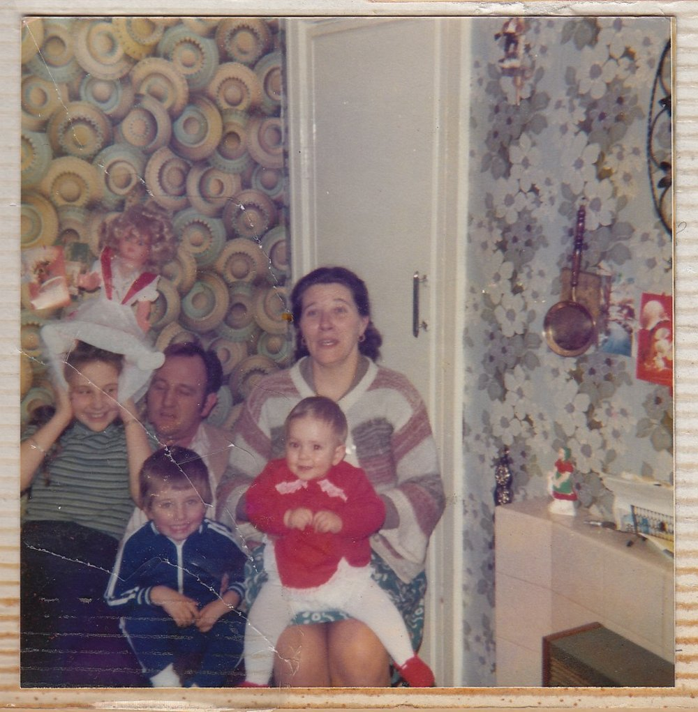Front row: George and Sam; Back row: Aunty Pam, Grandad Ted, Nanna