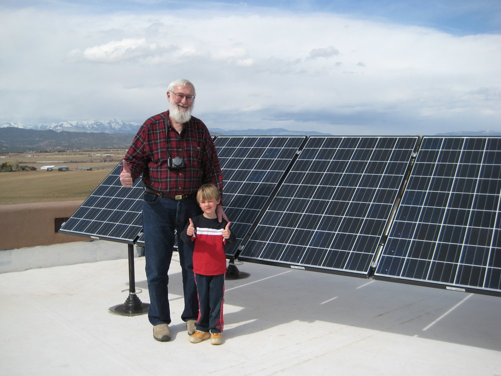 Frank Klein and his grandson back in 2011.