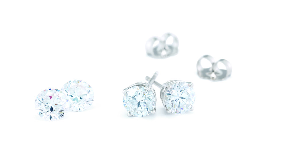 Custom MadeDiamond Studs - Diamond studs are a beautiful gift, and every woman wears them. They are perfect for any occasion and we can make studs for you in whatever style or size you want!