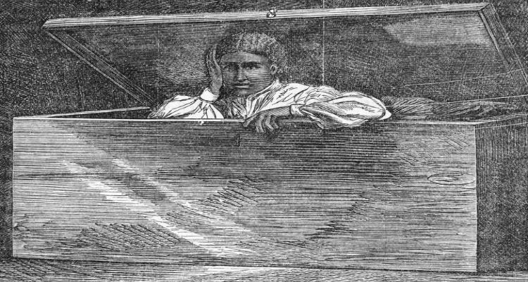 Elizabeth Adams, (Lear Green) - - escaped slavery by having herself shipped in a sailor's chest on a steamship from Baltimore to Philadelphia; it was an 18 hour trip.  Only living in freedom three years, she died November 30, 1860 at the age of 18 years old.
