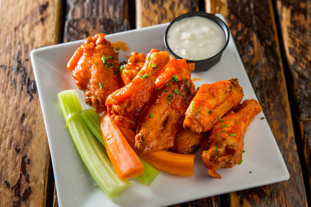 Chicken Wings with Carrots and Celery