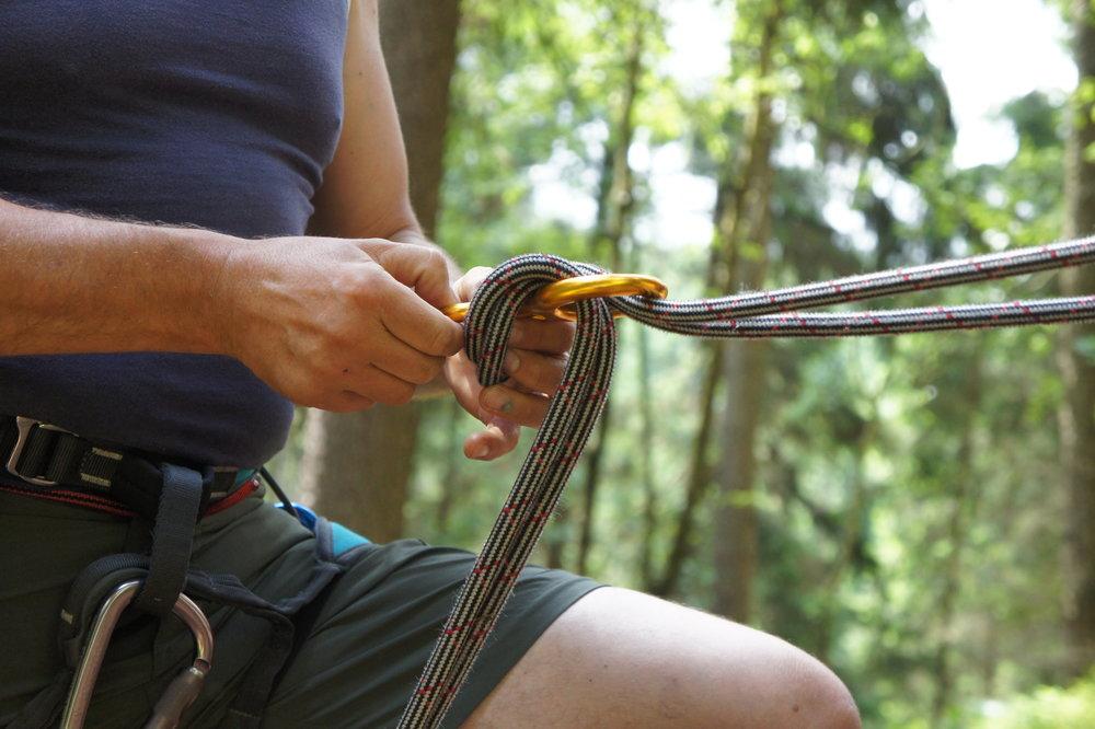 Sicherungsgeräte beim Klettern