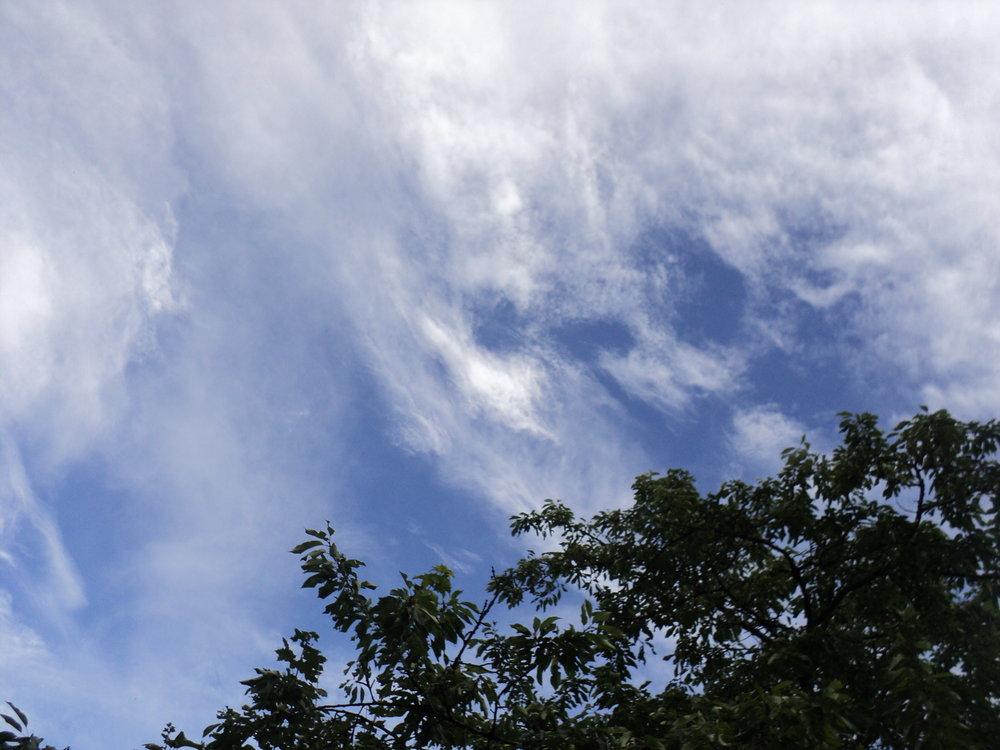 Himmel überm Survivalareal