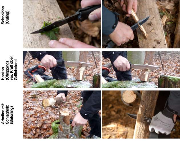 Bushcraft - Messertechniken für Survival und Wildnis