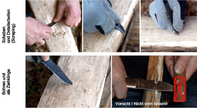 Messer im Einsatz beim Bushcraft und Survival im Outdoor Bereich