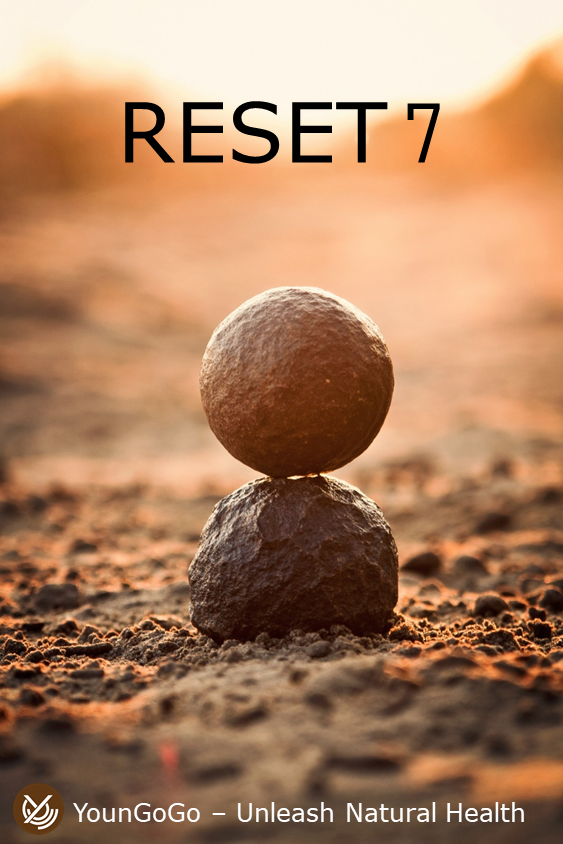 What do we do when our computer hangs or slows down?RESET!We can do the same for our body! - RESET 7 is a quick reset of our human body in 7 steps, taking care of our 5 internal organs, namely Liver, Heart, Lung, Kidney and Spleen.Benefits:1. Better Qi Circulation2. Better understanding of our own health (locate our weaker links)3. Better internal organs health (Liver, Heart, Lung, Kidney, Spleen)