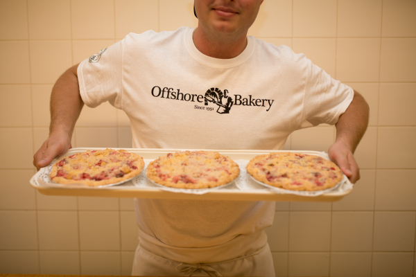 Rhubarb pie is all about balancing the tartness without overpowering with sweetness in my opinion. - Justin Niklaus of Offshore Bakery in Southampton
