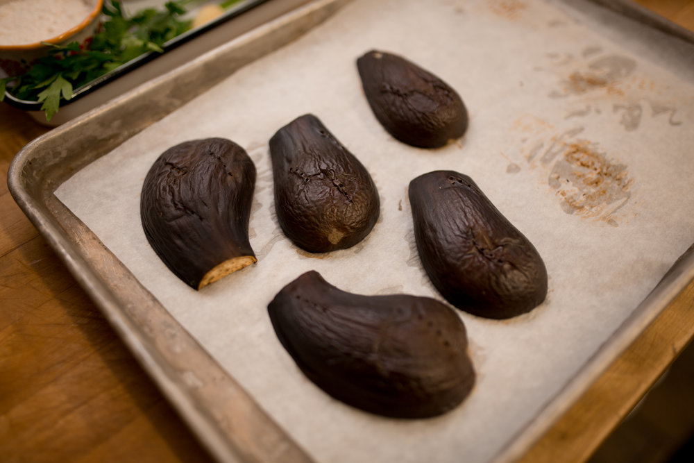 Eggplant can be grilled, baked, braised or cooked and pureed.