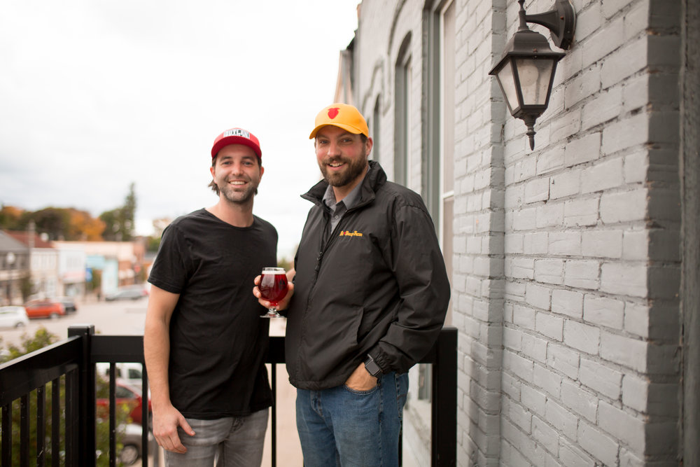 Andrew Woodley of  Outlaw Brew Co.  and Luke Charbonneau of  Hi-Berry Farm