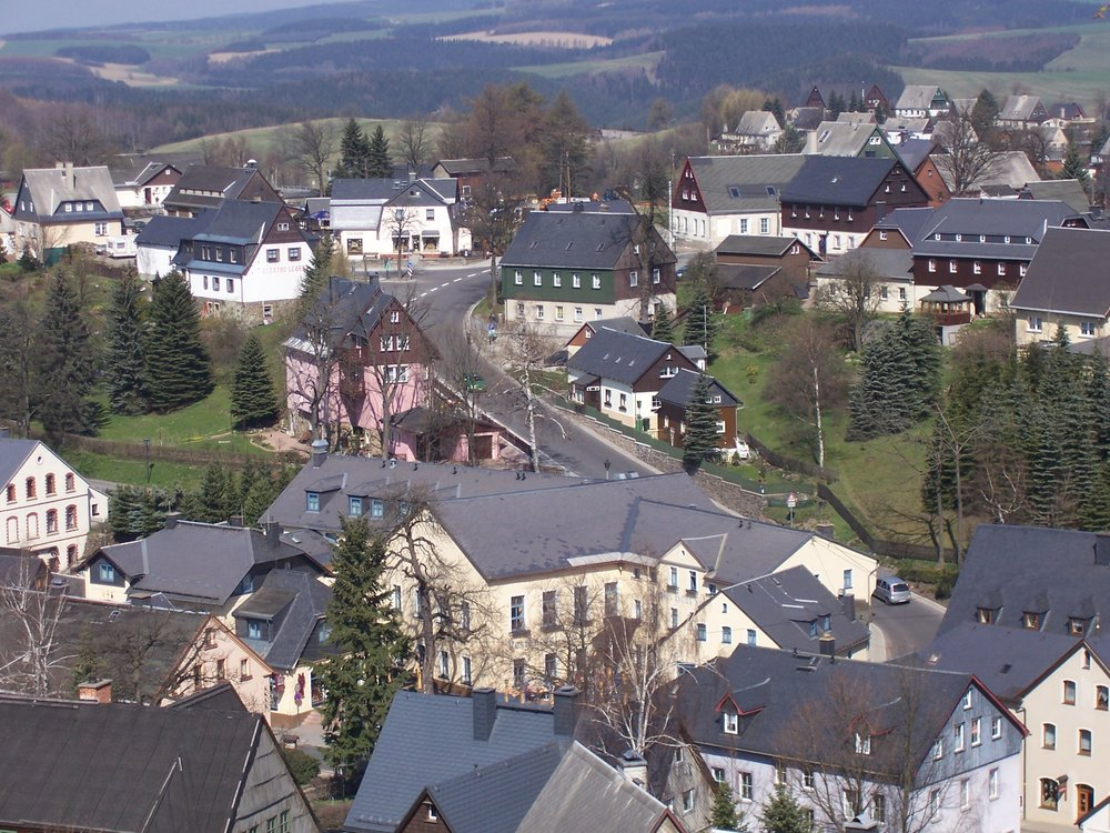 View of Seiffen - the home of so many traditional German woodcrafts.