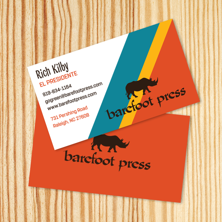Barefoot press business cards reheart Images
