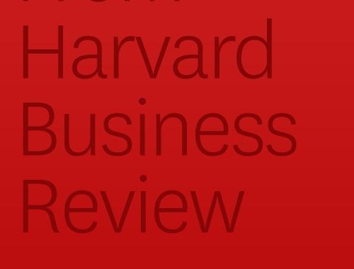 Harvard Business Review, April 26, 2012
