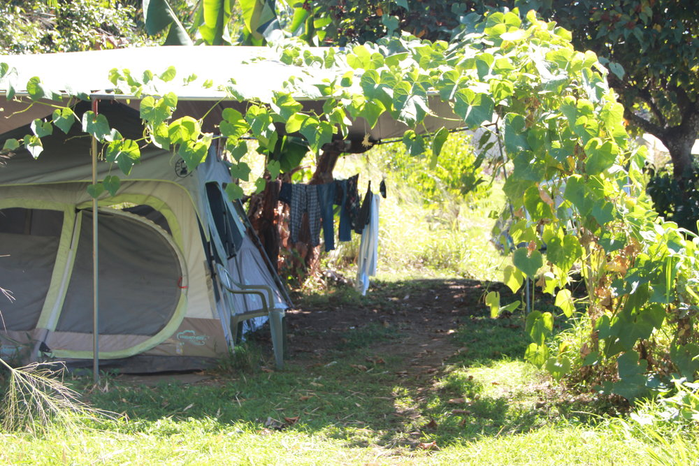 An apprentice tent on the farm.