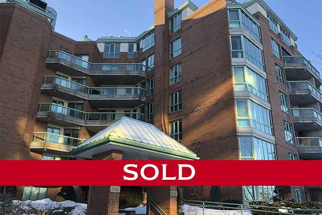 generously sized 1 bedroom + den layout   540 CAMBRIDGE ST S #108  $319,900  Welcome to the LakeLander, ideally located at the meeting point of the Glebe, Dows Lake & Little Italy. Easy access to shopping, restaurants, Canal & lakeside paths, 800 meters to the O-Train station & 3 kilometres to Parliament Hill. This unit is a generously sized 1 bedroom plus den layout, with one & a half bathrooms. An L-shaped living & dining room has ample space with hardwood floors & an electric fireplace. The upgraded kitchen sports granite counters with a breakfast bar overlooking the dining room, plus there is a large laundry/storage room that will surely be appreciated. A den with walk-in closet has double French doors to the living room & is fitted with a practical Murphy bed. Interesting angles in the master bedroom allow for a sitting area by the windows & there is the added bonus of a walk-in closet. The private terrace leads to the landscaped grounds of the condominium, only accessed by 2 other units. It benefits from a Western exposure.