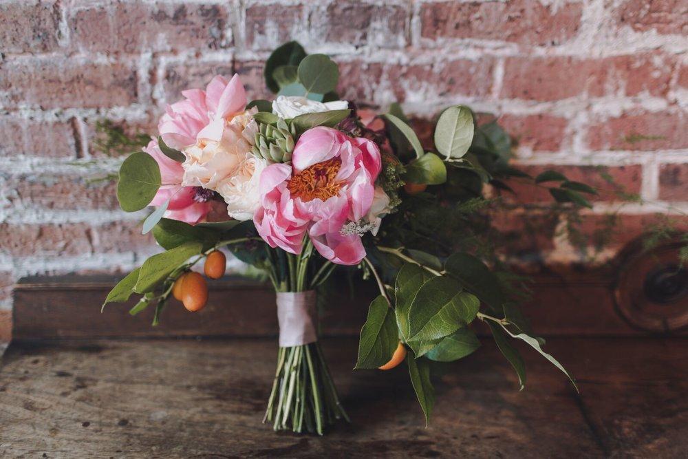 Sustainable Eco-friendly wedding celebration floral bouquet