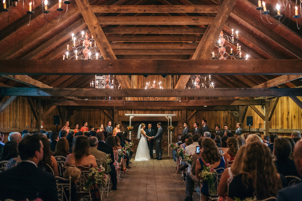 Barn Wedding Ceremony at Waterloo Village in Stanhope, New Jersey