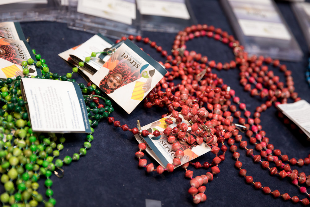 Hand beaded nametag lanyards at the Segal Family Annual Meeting Jersey City Hyatt