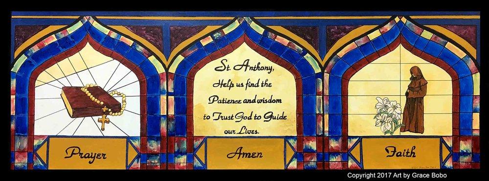 Saint Andrew Panel 1 | Acrylic | 72x36
