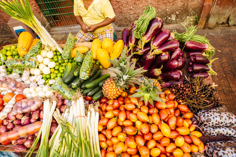 Bogota market colorful produce Boutique Colombia