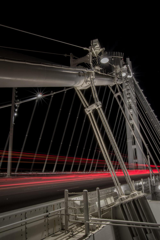 Light trails on the Bay Bridge
