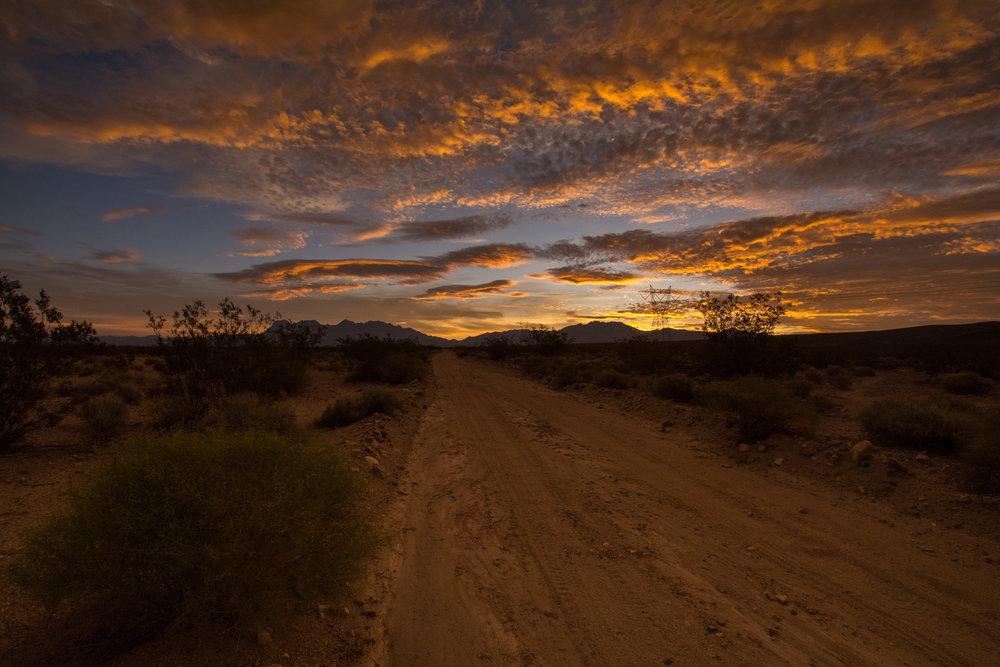 Sunrise in Mojave