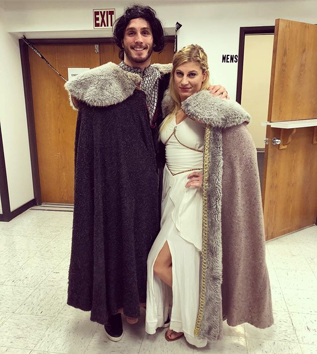 Happy Halloween from the mother of Dragons and the Lord Snow. 🧝🏼♀️🤴🏻