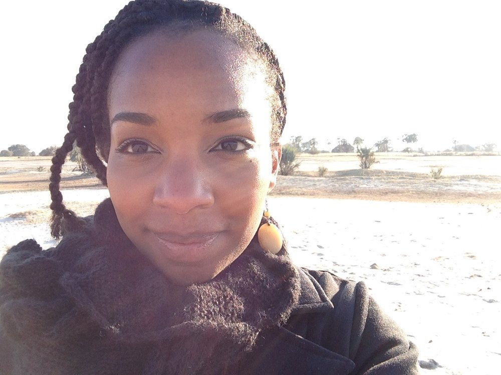 Kaylan Reid Shipanga, the author and native New Yorker who lives abroad in Namibia.