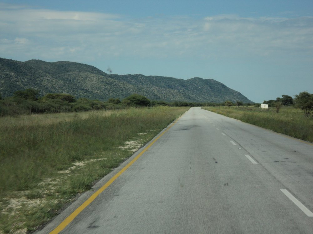 The Namibian highway.