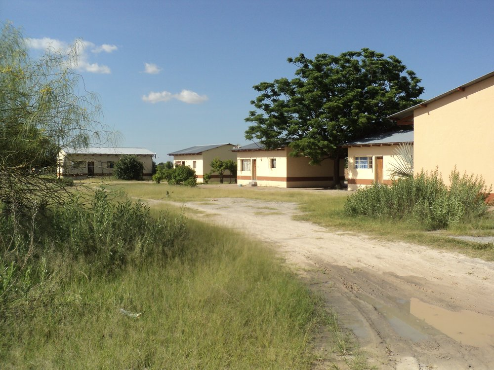 My first home in Namibia was the house on the right, on a high school campus.