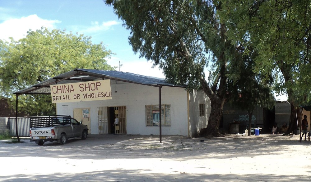 "A ""China shop"" in northern Namibia, similar to an American dollar store."