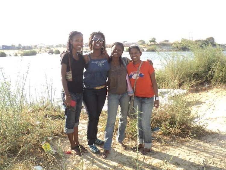 Here I am hanging out with three lovely Peace Corps Namibia volunteers.