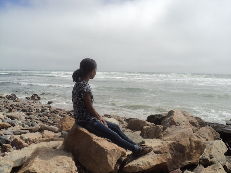 Sitting on Namibia's Atlantic coastline.