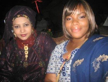Tecie, attending a traditional Toureq concert with her friend, Fatama.