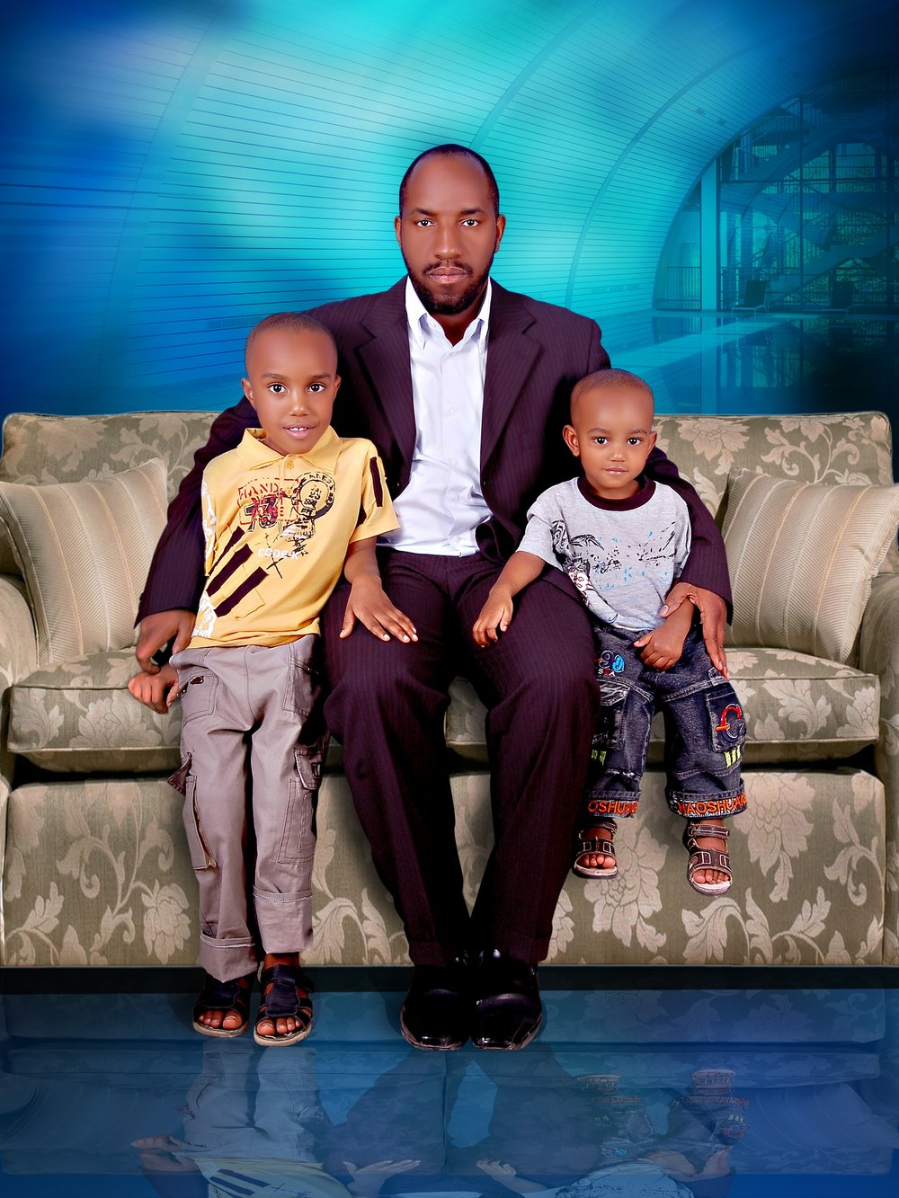 Jamal with his two sons.