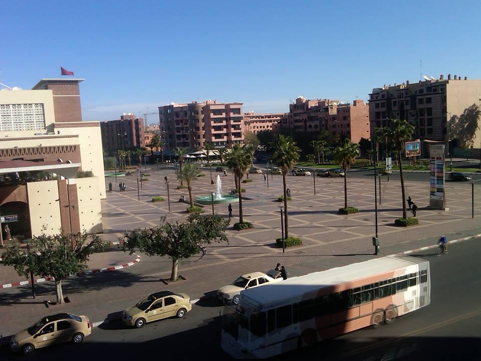 Downtown Marrakesh, Morocco.