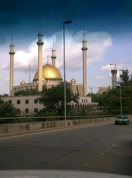The National Mosque in Abuja, Nigeria.