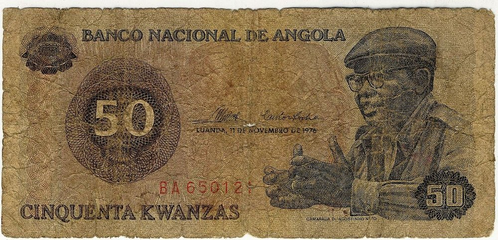 Photo credit: Col André Kritzinger,  Cinquenta Kwanzas obverse ,  CC BY-SA 3.0