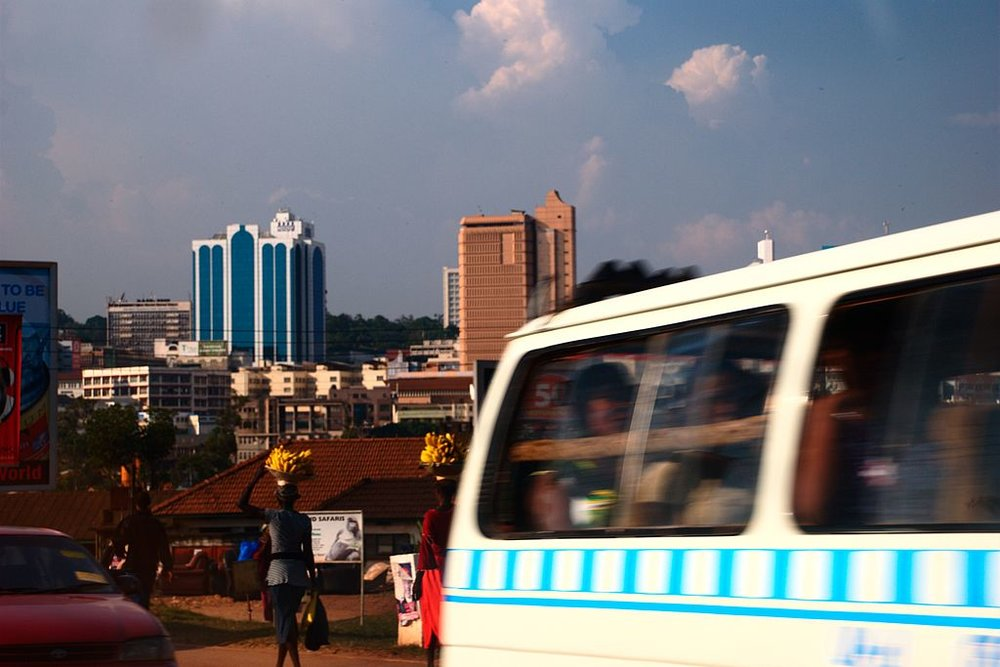 Downtown Kampala. Credit: User: Flöschen at wikivoyage shared,  Skyline of Kampala ,  CC BY-SA 3.0