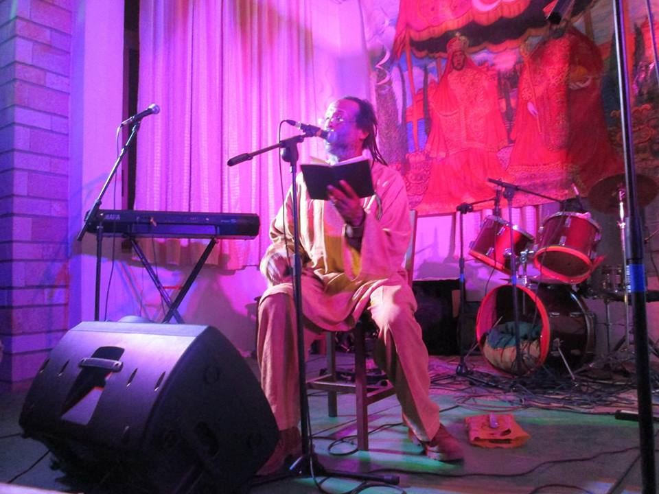 Timothy doing a poetry reading at tribute to Emperor Haile Selassie I in Shashemene, Ethiopia.