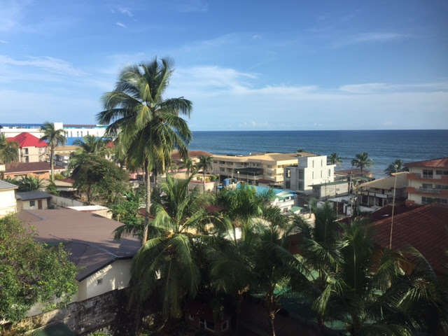 The view from Terek and Dr. Adrienne's home in Monrovia, Liberia.