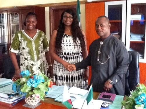 The U.S. recession sent Jocelyn (center) packing and she moved to Nigeria to continue her entrepreneurial dreams.