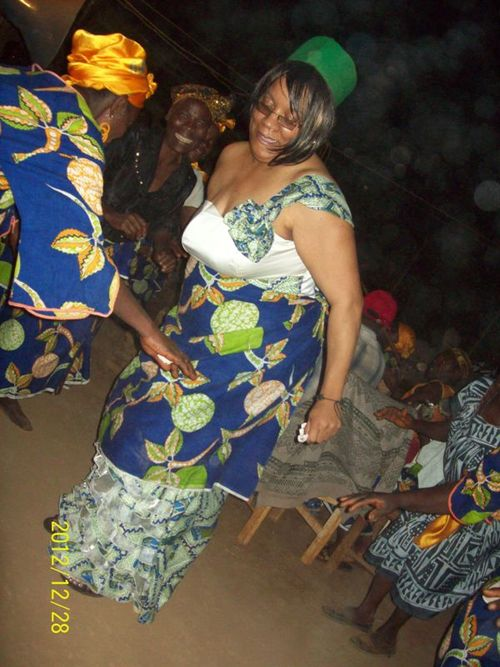 Yvette at her traditional wedding ceremony in her husband's Cameroonian village.