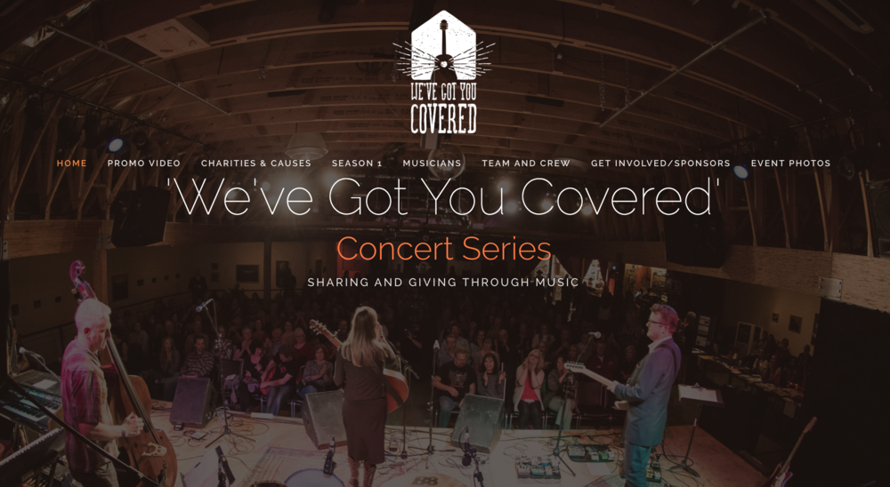 We've Got You Covered - We've Got You Covered - A concert series with a featured artist who picks several guest artists to cover one of their songs. Each featured artist picks a charity and profits go to this charity. Audio Lab records all the audio in high definition multi-track audio.