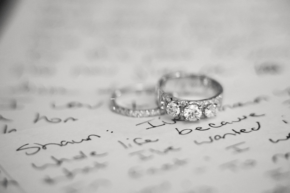 Close up of Rings and Written Vows | Intimate Wedding Photographer | Colorado | Apollo Fields Wedding Photojournalism