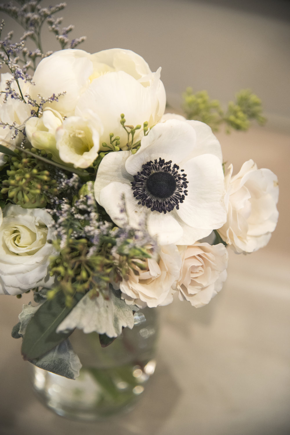 Close up of White Bouquet | Mary and Brad's Outdoor Wedding Photography at Hudson Gardens | Colorado Springs, Colorado Photographer | Farm Wedding Photographer | Apollo Fields Wedding Photojournalism