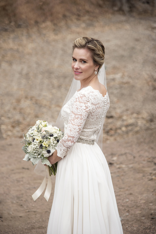 Bridal Shot | Mary and Brad's Outdoor Wedding Photography at Hudson Gardens | Colorado Springs, Colorado | Farm Wedding Photographer | Apollo Fields Wedding Photojournalism