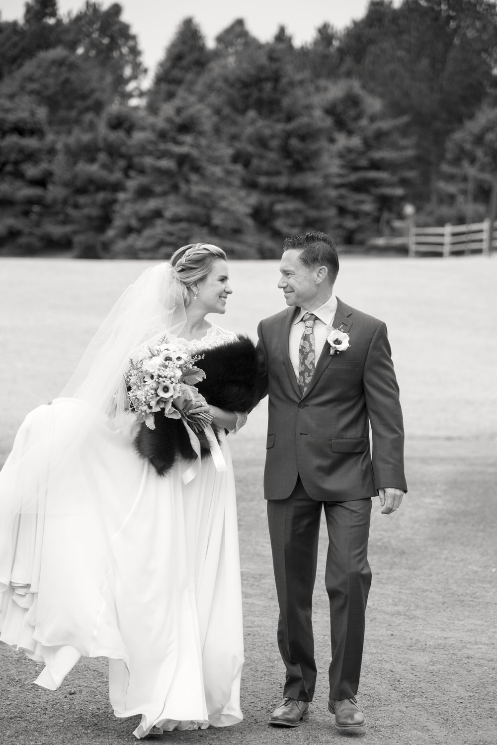 Black and white bride and groom | Mary and Brad's outdoor wedding photography at Hudson Gardens | Colorado Springs, Colorado | Farm Wedding Photographer | Apollo Fields Photojournalism